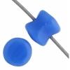 Czech Pellet 4X6mm Soutache Blue Alabaster Opaque